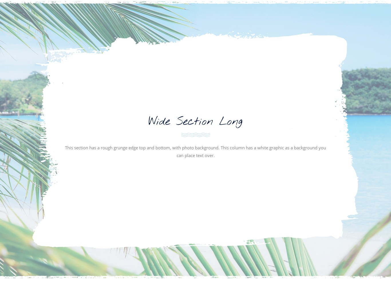 Block - Full width photo background long white section