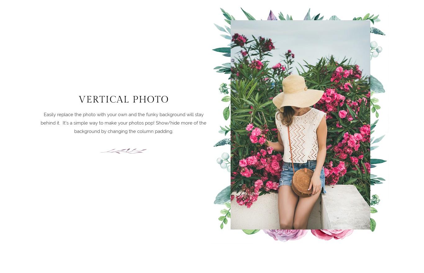 Block - Vertical Photo