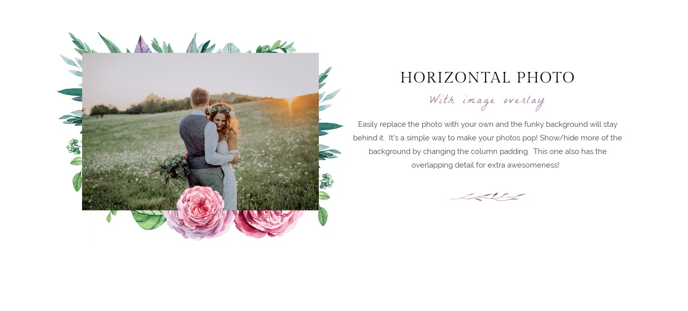 Block - Horizontal Photo with Image Overlay