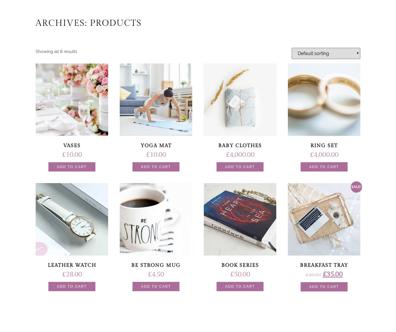 Woo Commerce Products