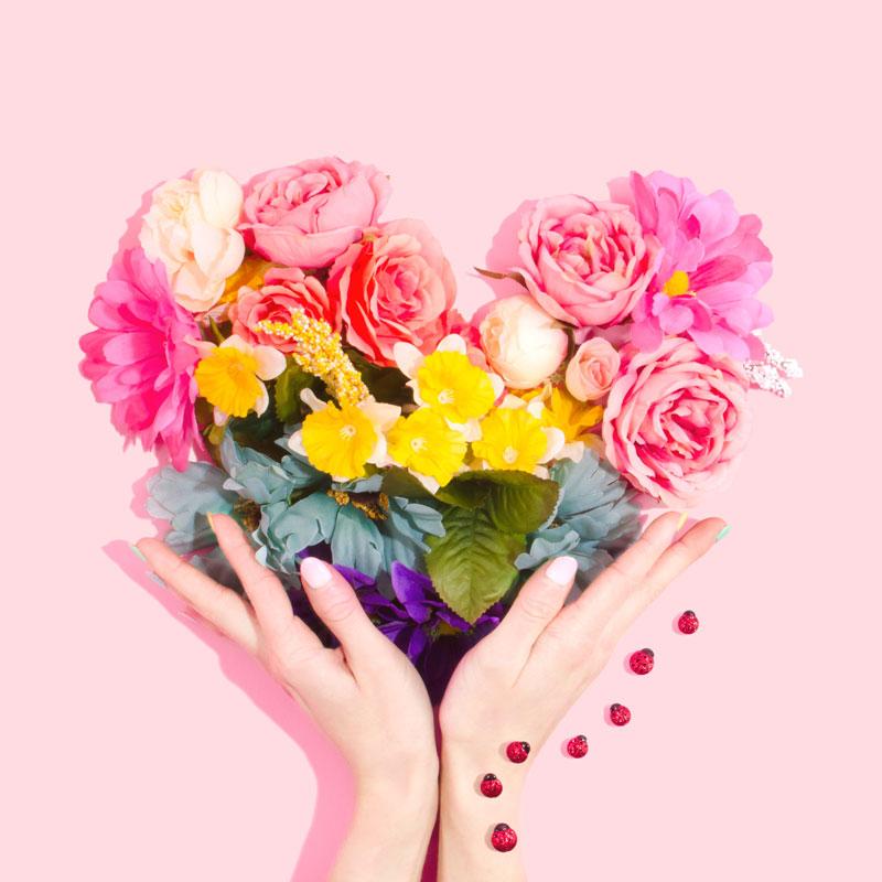 flowers-heart